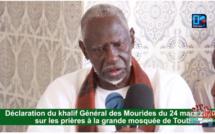 """SERIGNE MOUNTAKHA LIBÈRE : """"Les muezzins continueront à appeler à la prière mais... chacun devra prier chez lui"""""""