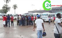 ZIGUINCHOR: Les chauffeurs et receveurs de bus Tata (SOTRAZIG) crient leur colère